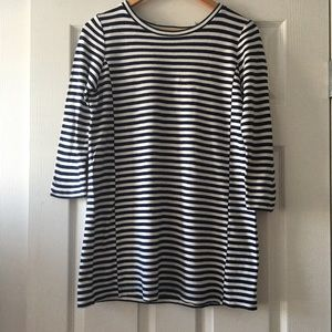 J. Crew Blue Stripe T-Shirt Dress